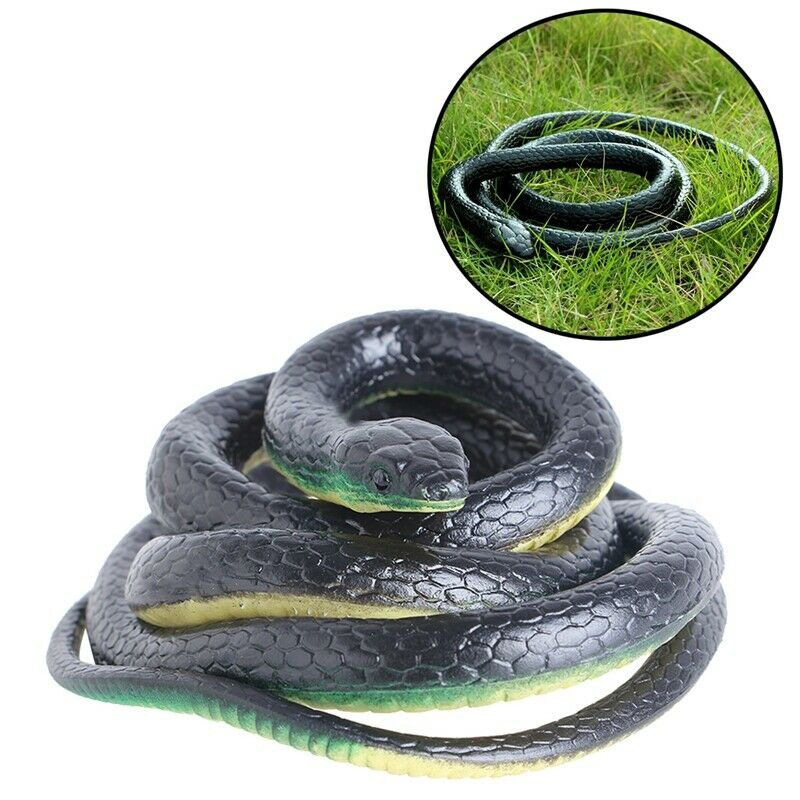 Artificial Realistic Snake Lifelike Real Scary Rubber Toys Prank Party Joke Halloween