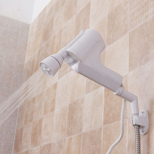 220V AC Tankless Electric Water Heater Instant Bathroom Hot Water Heating Spray Shower Head Faucet