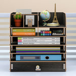 7 layers Desktop Wooden Storage Holder Box Multifunctional Wooden Organizer Makeup Tidy