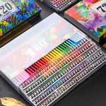 48/72/120/160 Colors Pencils Set Professional Oil Colored Artist Painting Sketching Wood Stationery School Art Supplies