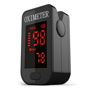 PRCMISEMED PRO-F4 Household Black LED Finger Pulse Oximeter Heart Beat At 1 Min Saturation Monitor Pulse Heart Rate Blood Oxygen SPO2 Monitor (Black)