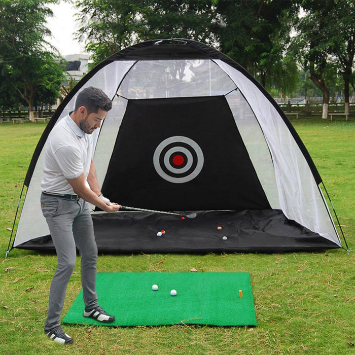 10FT/7FT Golf Net Training Aid Hitting Practice Lawn Driving Net Golf Training Net