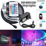 5M SMD2835 Alexa Smart Home WIFI Controller APP Control Non-waterproof RGB LED Strip Light DC12V