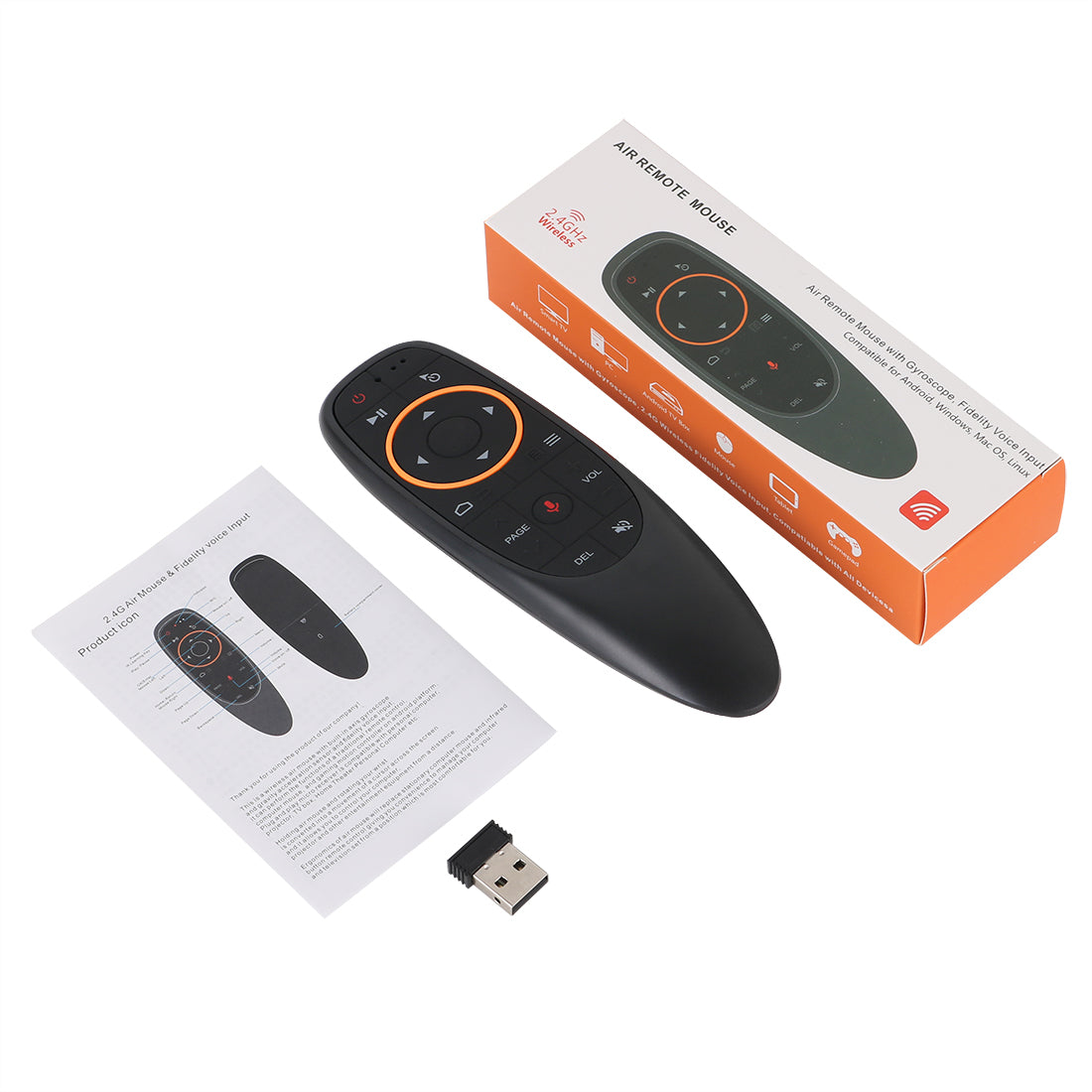 G10s Gyroscope 2.4GHz WIFI Googlo Assistant Voice Remote Control Air Mouse