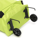 30L Portable Folding Shopping Trolley Cart Storage Bag Luggage Wheels Basket Outdoor Travel