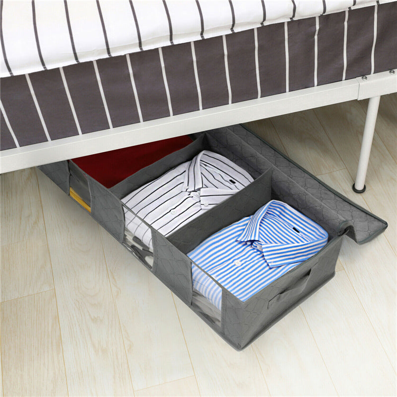 Large Capacity Under Bed Storage Bag Shoes Duvet Clothes Container NonWoven
