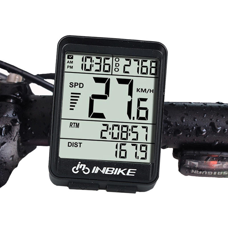 INBIKE IN321 Backlight Bicycle Computer Waterproof Wireless LCD Odometer Bicycle Speedometer