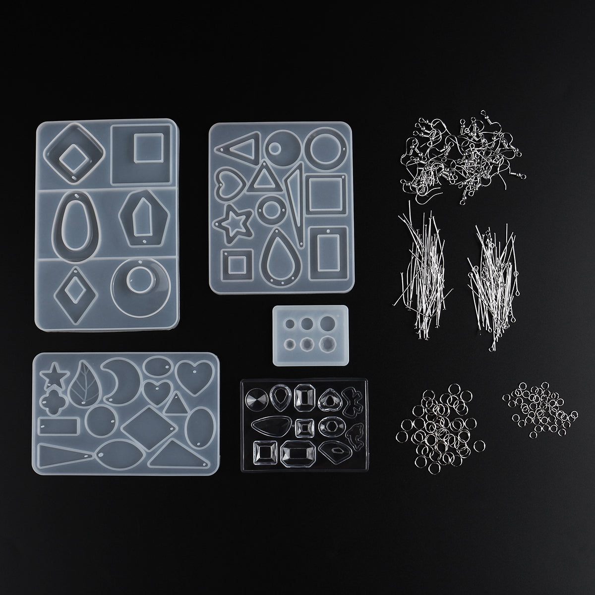248Pcs DIY Silicone Earring Pendant Mold Resin Epoxy Jewelry Making Mould Tools