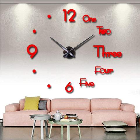 "VinJoyce [LARGE] (47""/120CM) 3D DIY Wall Clock, Large Wall Clocks for Living Room Decor, Silent, Modern Wall Clock for Kitchen, Office, School, Home, Bedroom, Living Room Decor"