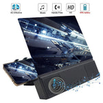 12 inch Universal 3D Mobile Phone Screen Magnifier Bluetooth Stereo Speaker HD Video Amplifier Smartphone Stand Hoder