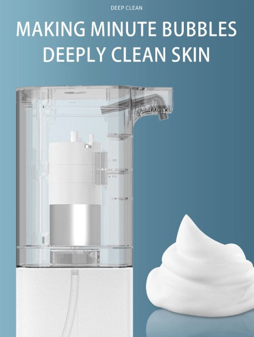[VinJoyce] 350ML Automatic Foaming Soap Dispenser USB Rechargable Touchless Electric Soap Dispenser for Home Office Bathroom Kitchen Toilet Office Hotel School Hospital