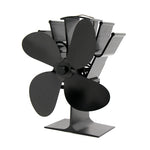IPRee® 4 Blades Fireplace Fan Thermal Heat Power Stove Fan Wood Burner Fan