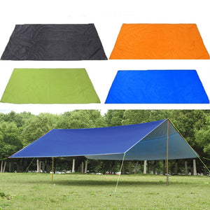 210x300cm Outdoor Camping Tent Sunshade Rain Sun UV Beach Canopy Awning Shelter Beach Picnic Mat Ground Pad