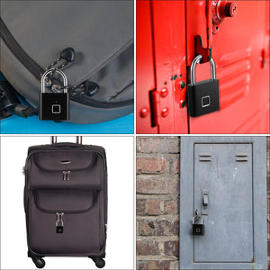 Smart Fingerprint Padlock Keyless Anti-theft USB Charging Luggage Suitcase Bag Security Home Electronic Door Lock