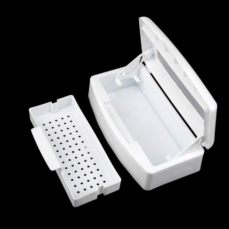 Nail Disinfection Box Art Nail Box Sterilizing Nail Alcohol Sterilizer Tray Tool