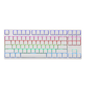 PLUS2 87 Key NKRO USB Wired RGB Backlit Gateron Switch PBT Double Shot Keycaps Mechanical Gaming Keyboard for E-sport office PC Laptop