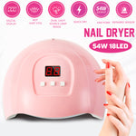 54W LED Nail Phototherapy Machine Quick-Dry Induction Dryer