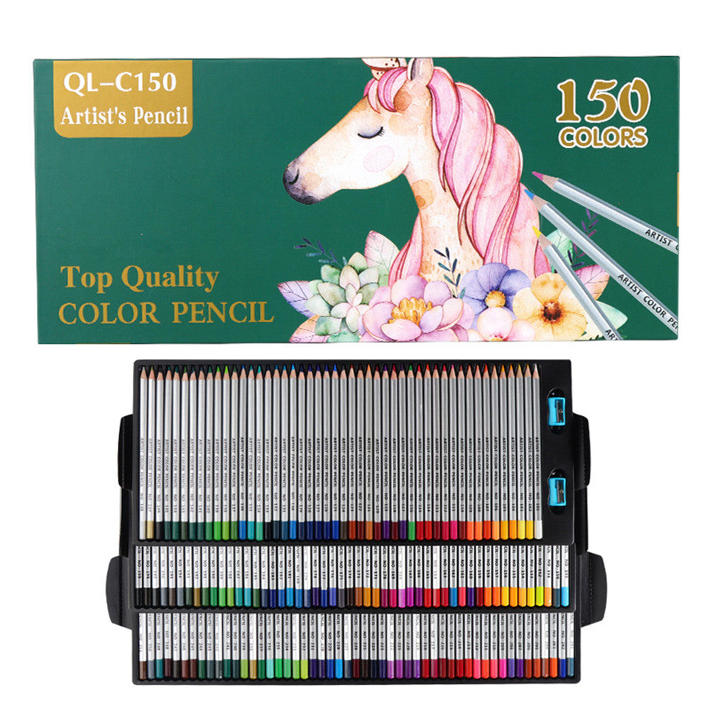 QiLi QL-C150 150 Colors Wood Colored Pencils Artist Painting Oil Color Pencil For School Drawing Sketch Pens Art Supplies Stationery
