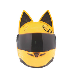 NITRINOS Motorcycle Full Face Helmet Women Cat Ear Women Personality 5 Colors