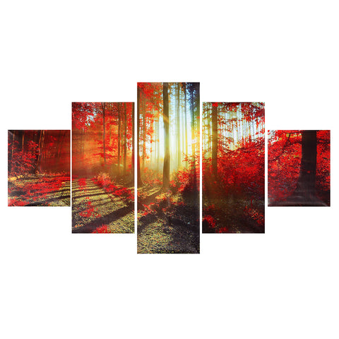 5Pcs Wall Decorative Paintings Scenery Canvas Print Art Pictures Frameless Wall Hanging Decorations for Home Office