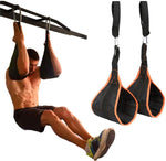 2PCS Home Abdominal Muscle Training Slings Straps Pull-ups Leg Hanging Raiser Gym Fitness Exercise Tools