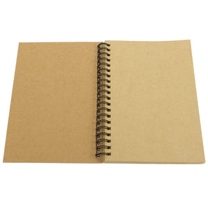 1Pcs Kraft Spiral Sketching Notebook Graffiti Creative Notebook Notepad Diary Book School Stationery