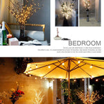 29 Inch 20LED Willow Branch Lamp Floral Lights Tree Party Garden Decor