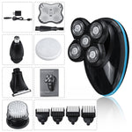 5 in 1 Rotary 5 Heads Electric Shaver USB Rechargeable Waterproof Wet & Dry Beard Nose Hair Trimmer
