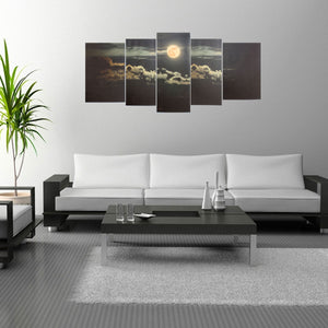 5Pcs Wall Decorative Paintings Art Landscape Canvas Print Pictures Frameless Wall Hanging Decorations for Home Office