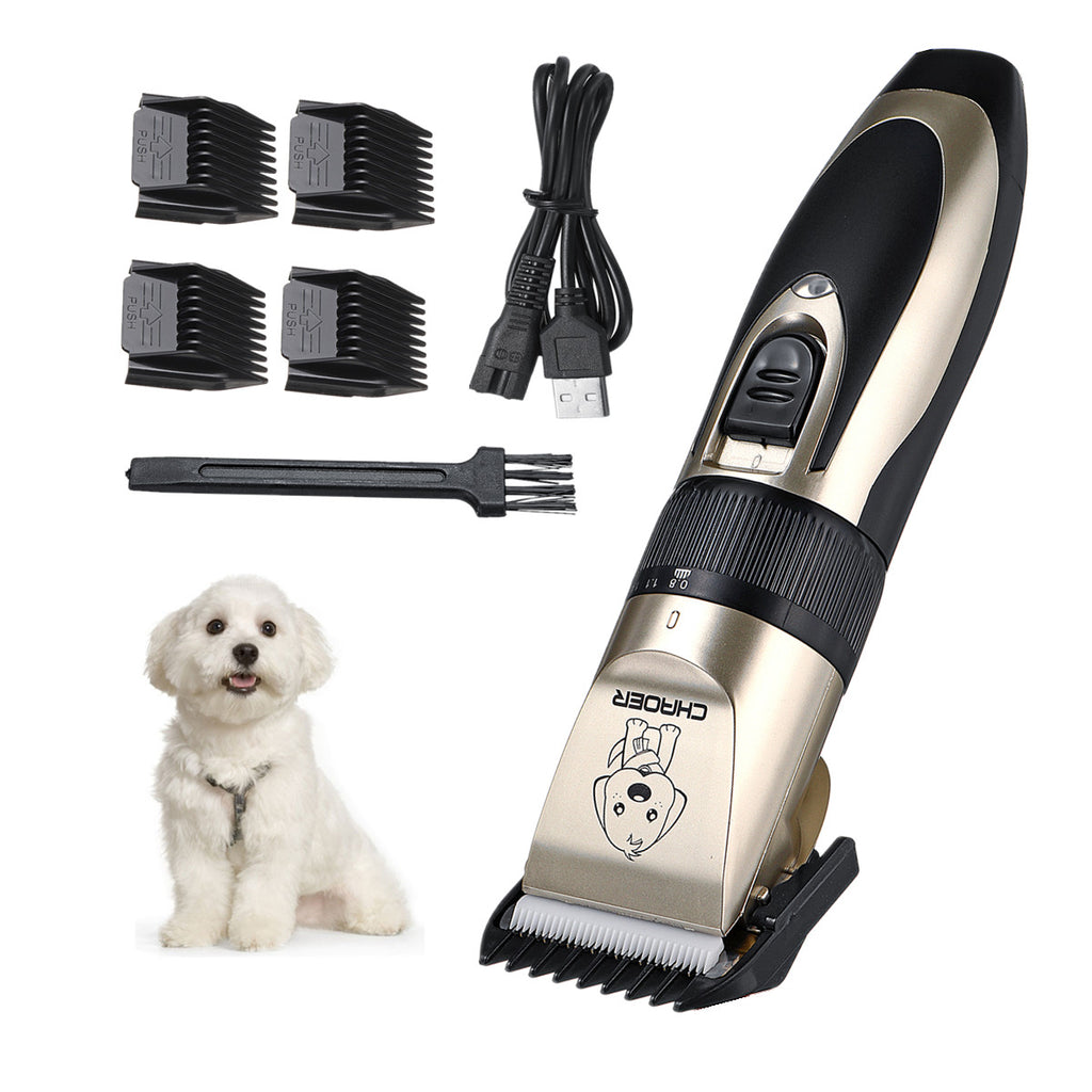 [USA DIRECT] USB Rechargeable Pet Hair Clipper Cat Dog Trimmer Kit Pet Grooming Scissor Portable Pet Accessories