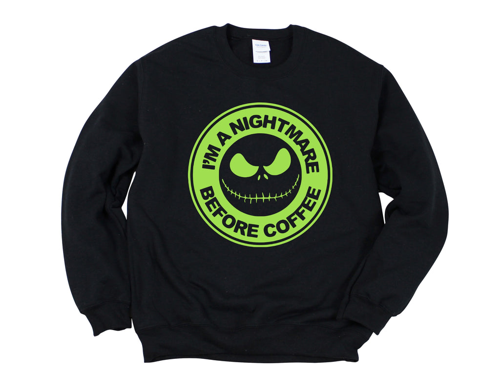 Adult - Nightmare Before Coffee Sweatshirt