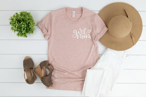 Girl Mom - Pocket Tee