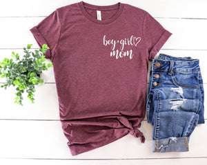 Boy + Girl Mom - Pocket Tee