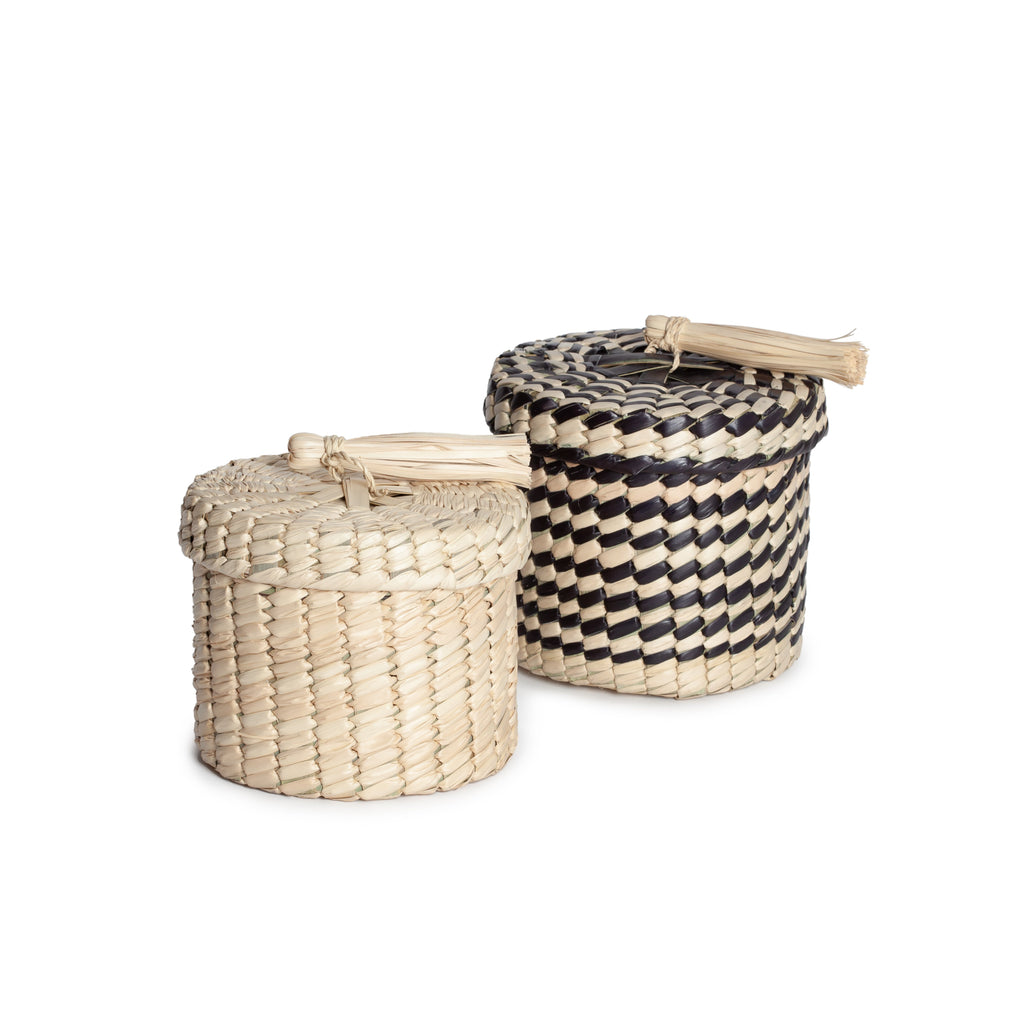 ROUND BASKET AND LID