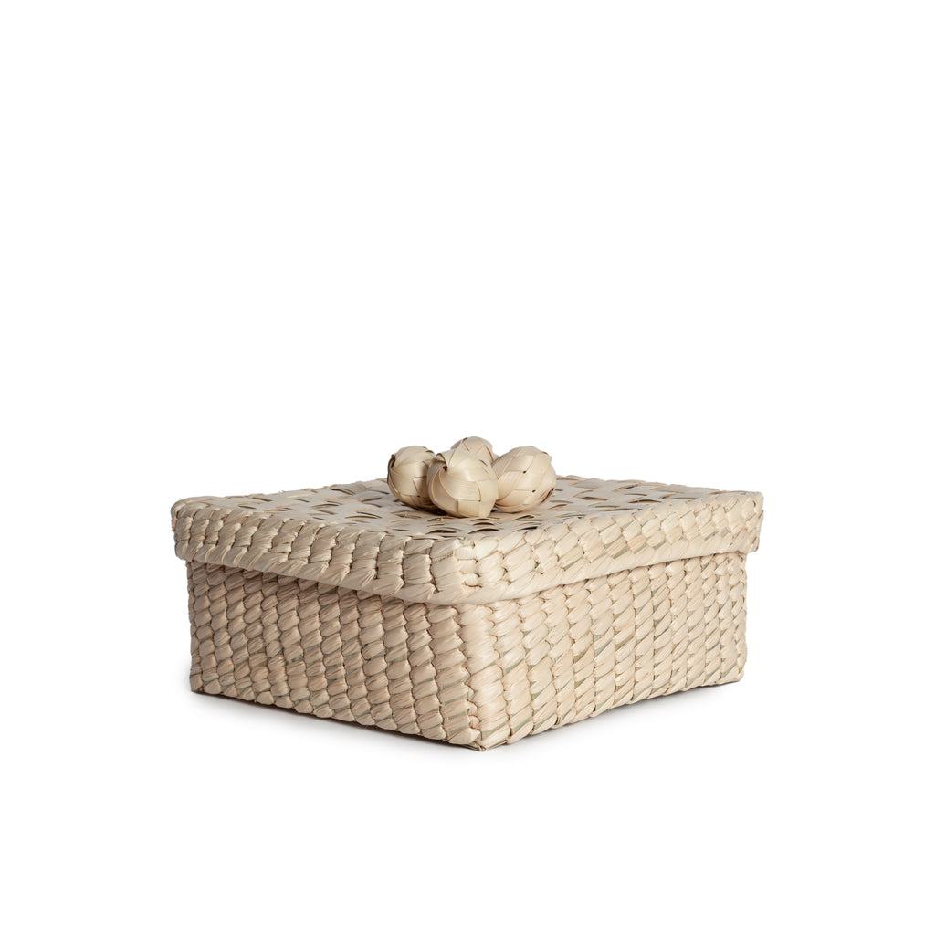 SQUARE 'ESFERAS' BASKET AND LID