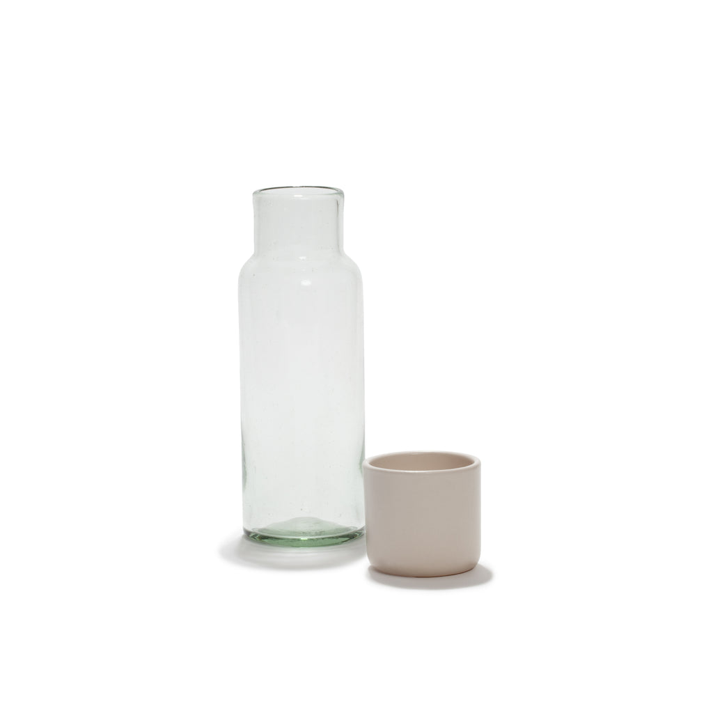 WATER CARAFE AND WHITE TUMBLER