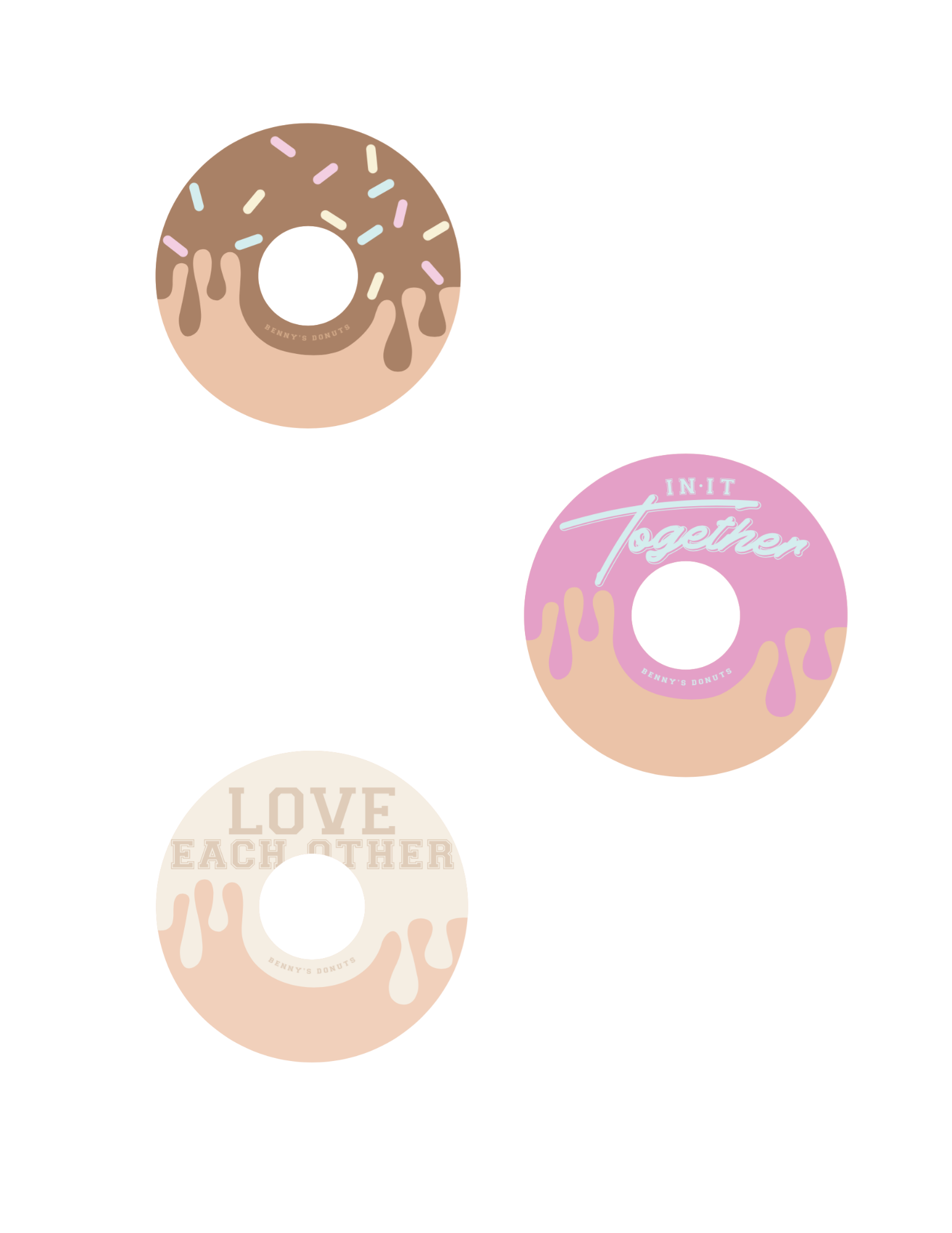 THREE!! Donut Stickers