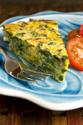 Spinach and Leek Quiche