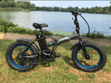 ECOTRIC Fat Tire Portable & Folding Electric Bike - Matte Black ECOTRIC