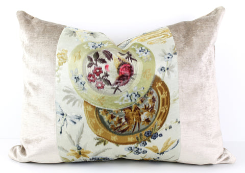 French velvet pillow