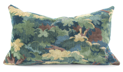 Donghia Floral Leaf velvet pillow