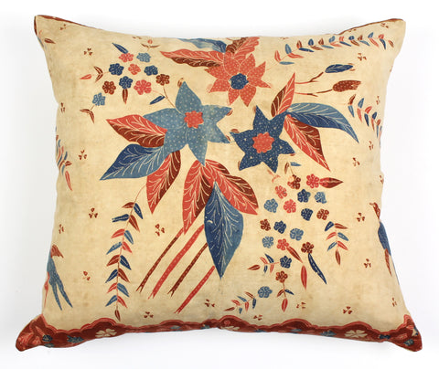 antique batik pillow Java