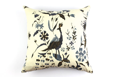 antique batik pillow indigo