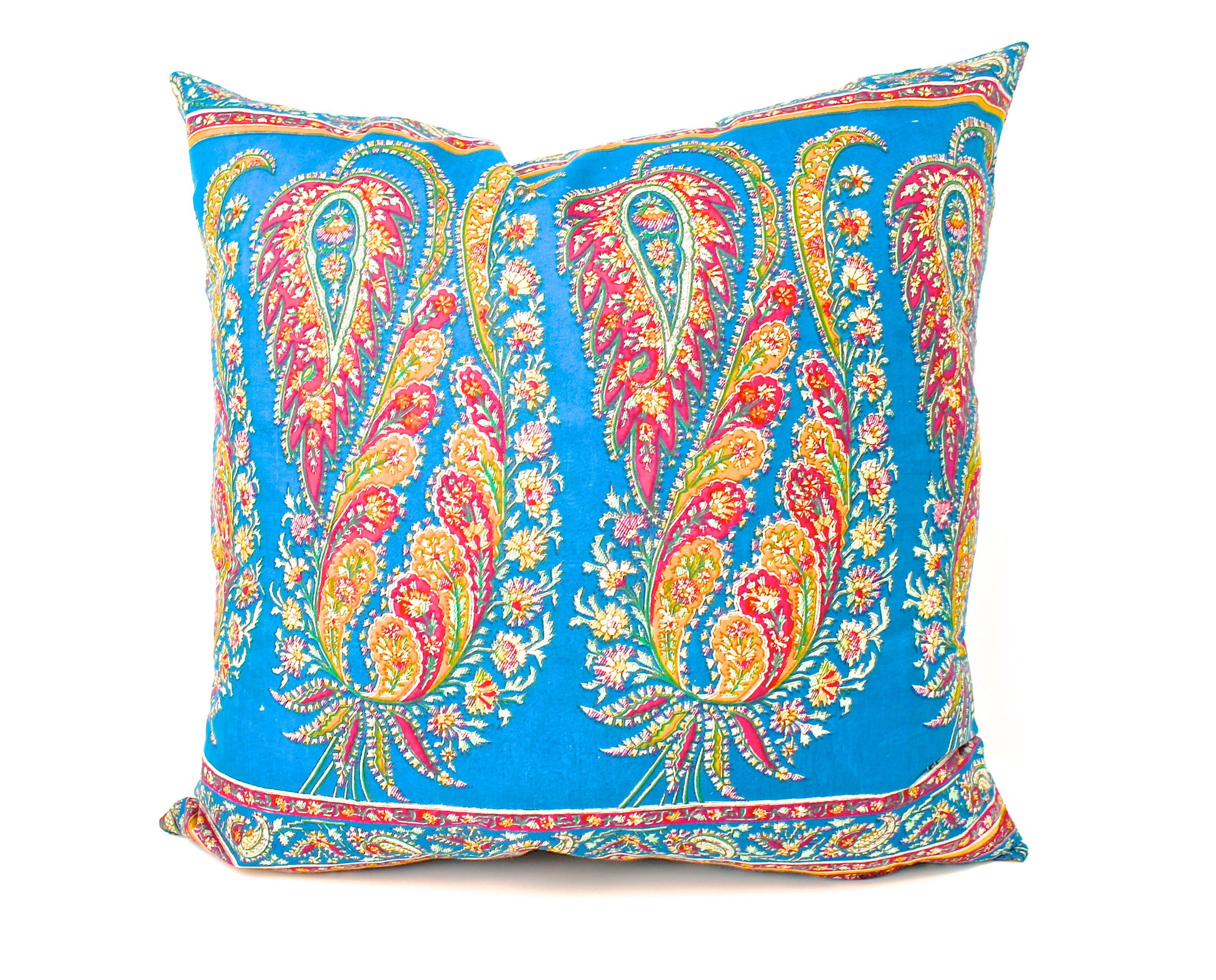 Silk Sari Paisley Pillow India