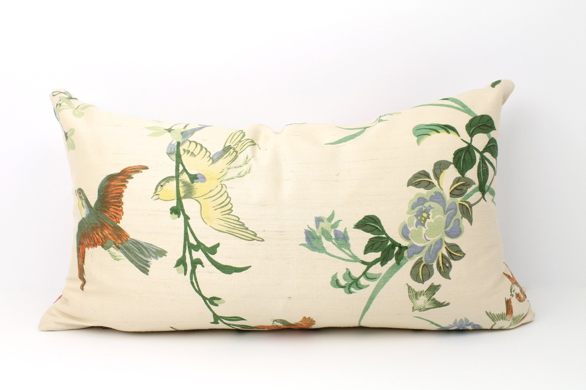 Hand Printed Chinoiserie Birds
