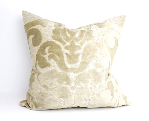 Velvet damask pillow Italy
