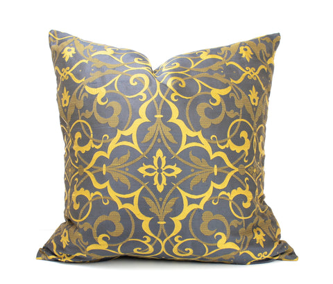 Venetia Silk Damask - Royal Navy