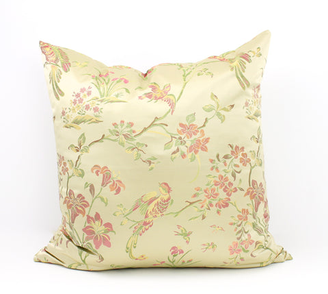 Chinoiserie silk pillow