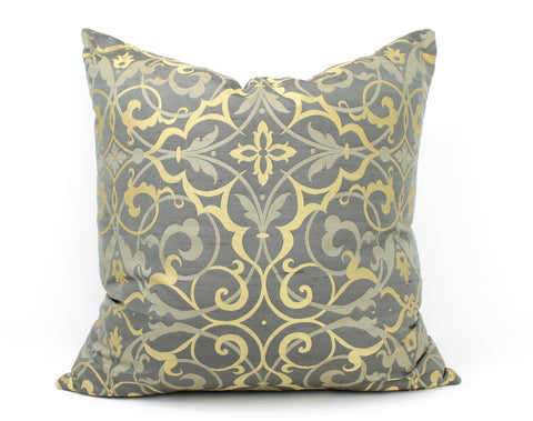 Venetia Silk Damask - Charcoal