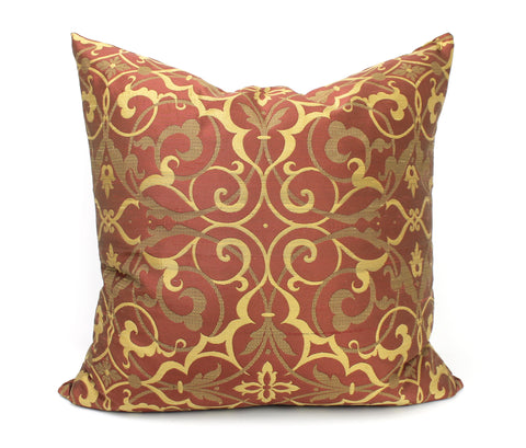 Venetia Silk Damask - Ruby